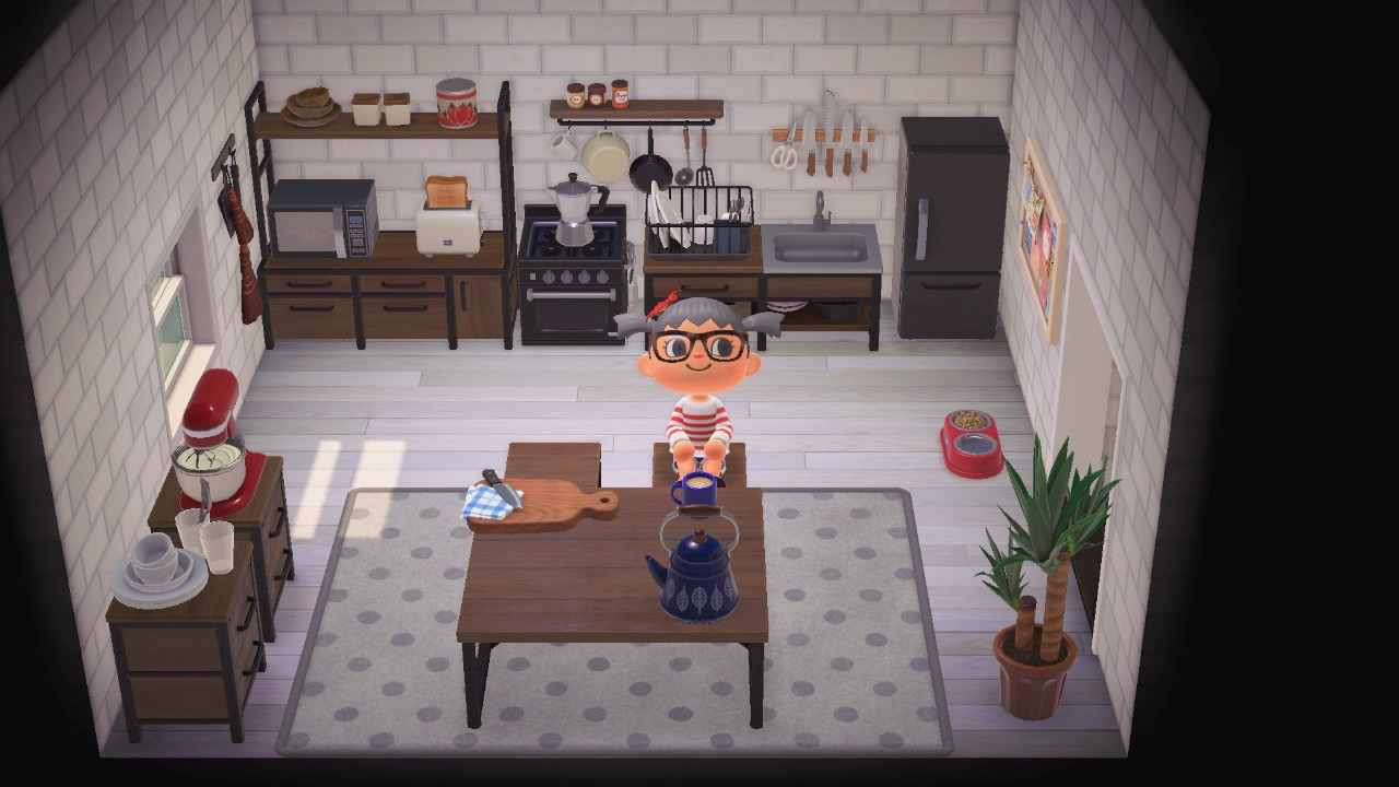 Animal Crossing White kitchen ideas
