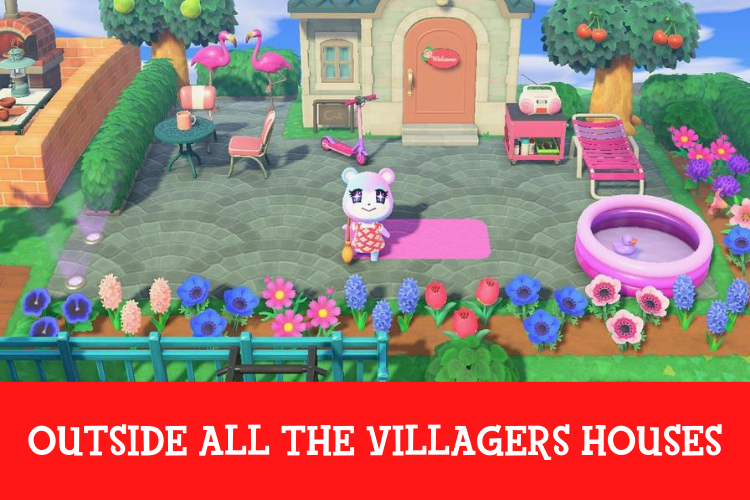 A design of a gym in animal crossing new horizons