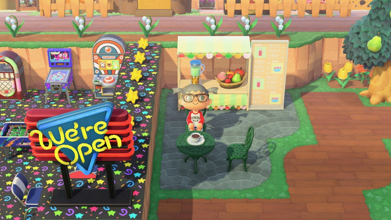 The design outside Clay House in Animal Crossing New Horizon