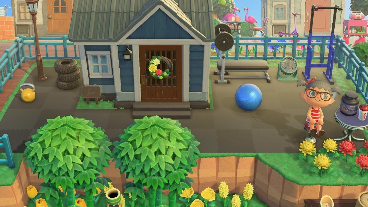 The design outside Tabbys House in Animal Crossing New Horizon