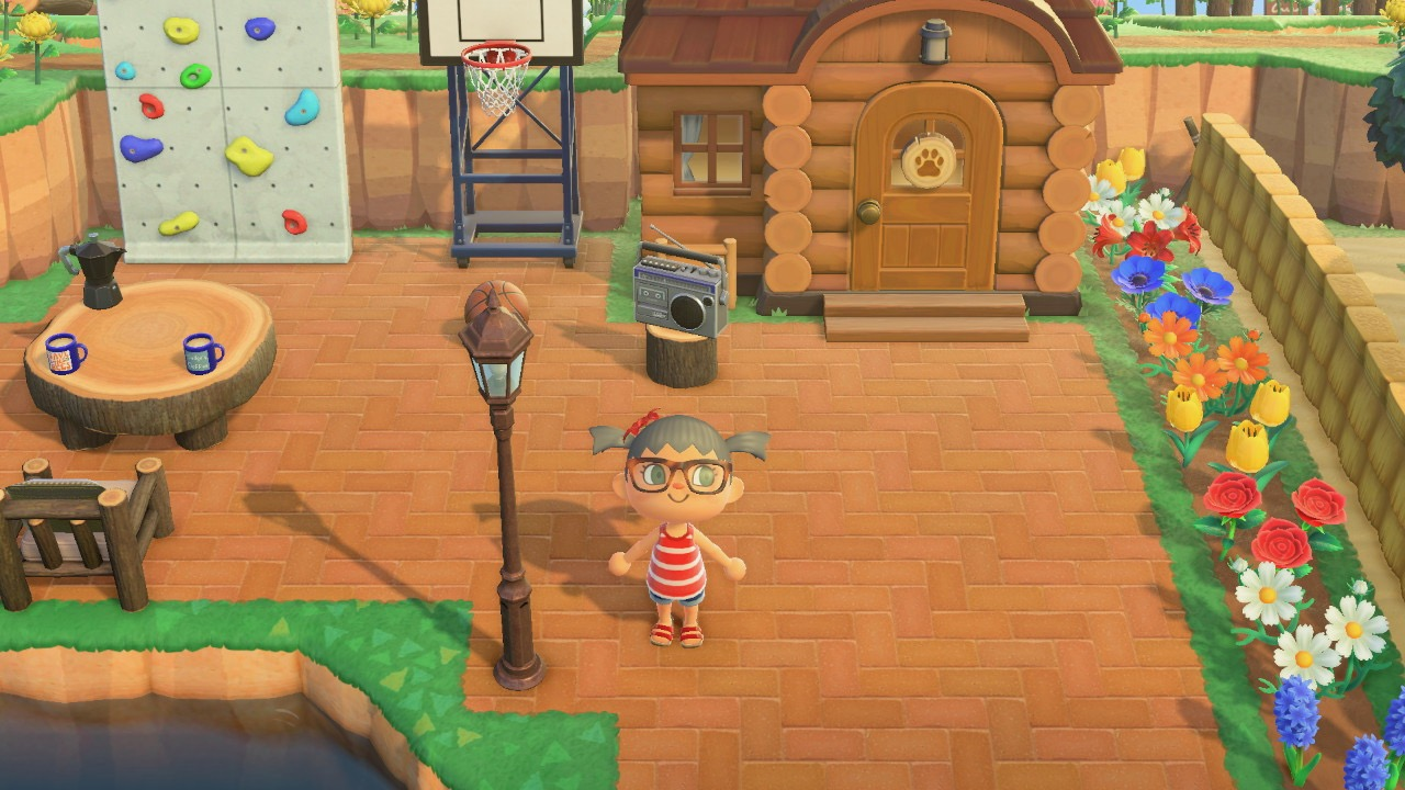 The design outside Teddy House in Animal Crossing New Horizon
