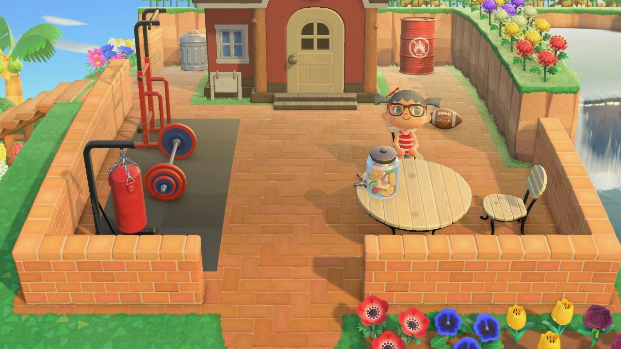 The design outside Boyd House in Animal Crossing New Horizon