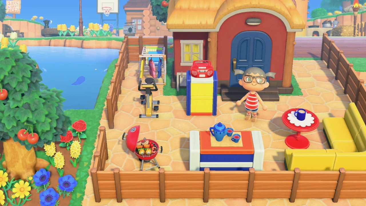 The design outside Phoebe House in Animal Crossing New Horizon