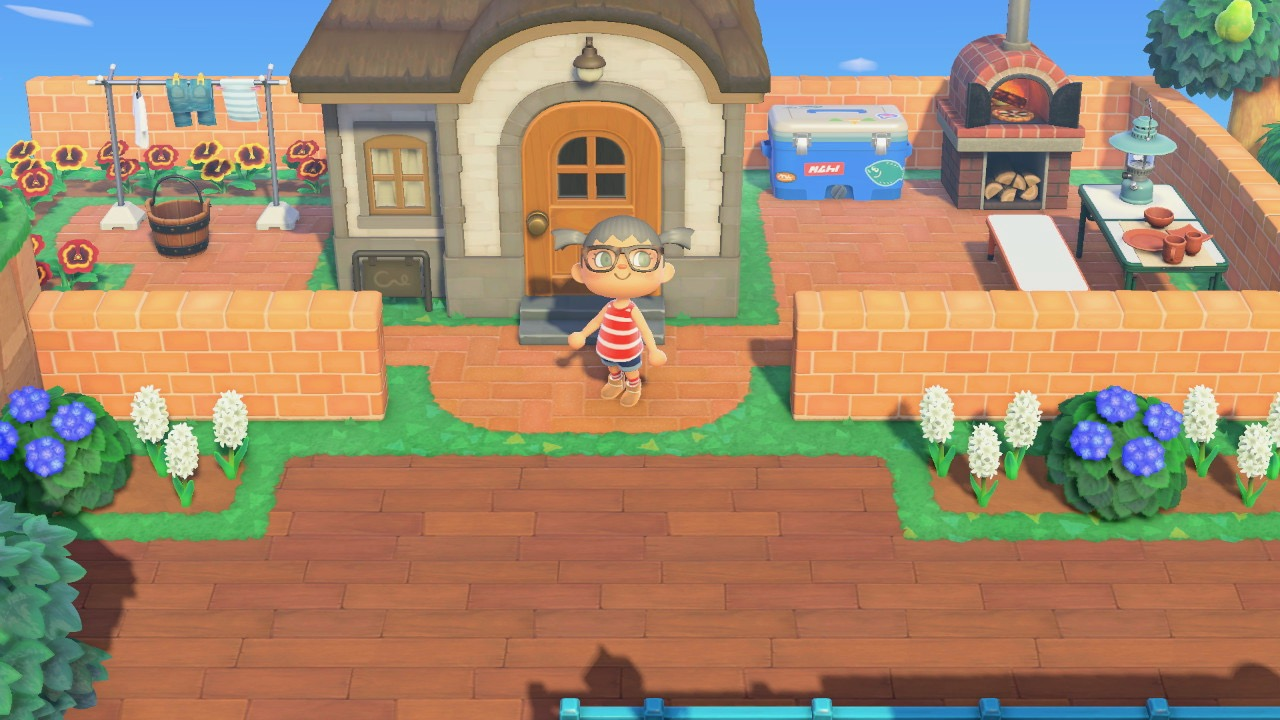 The design outside Ozzie House in Animal Crossing New Horizon