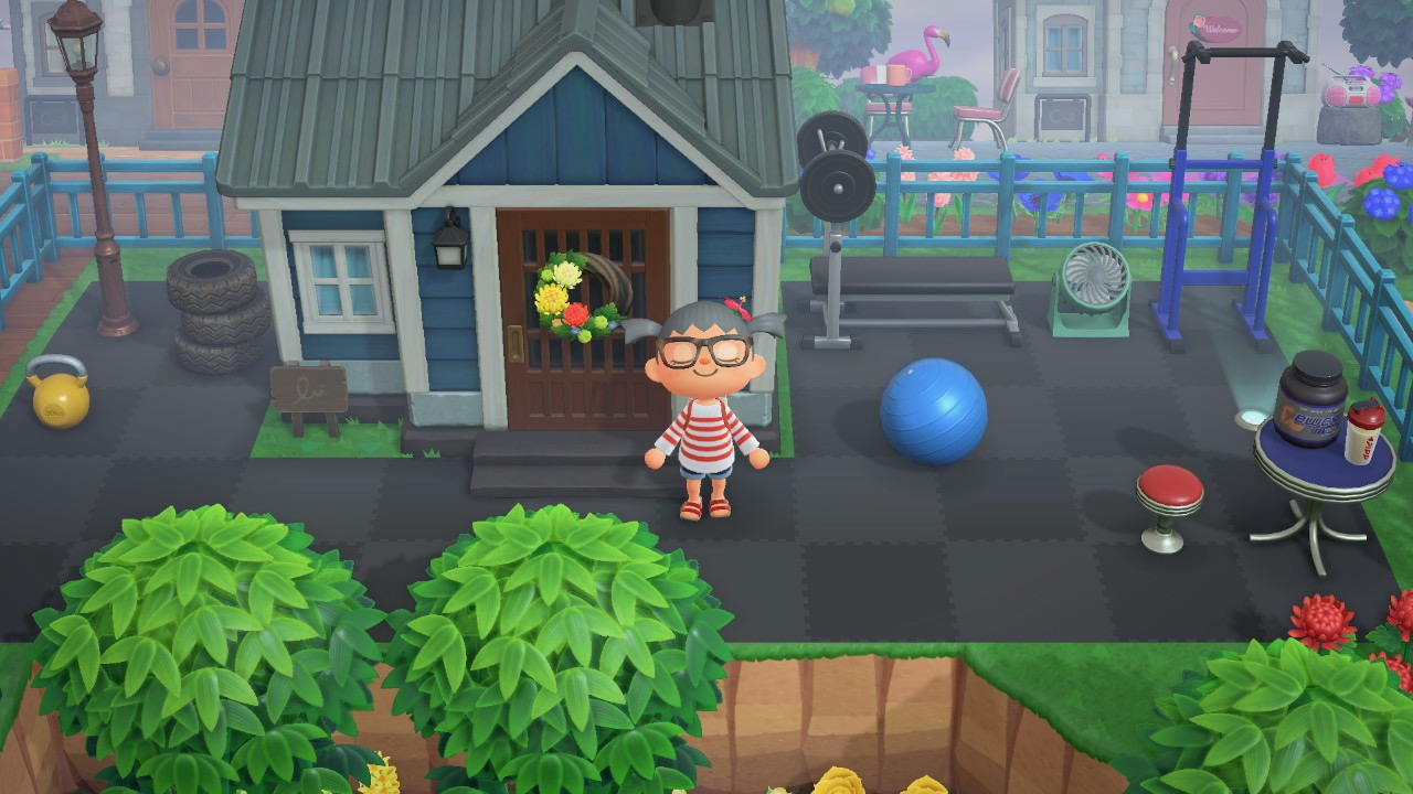 The design outside Bam House in Animal Crossing New Horizon