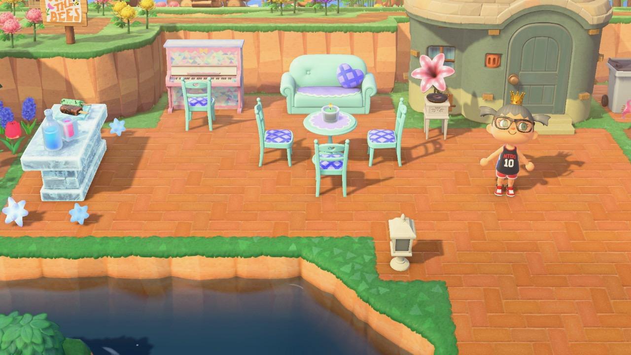 The design outside Sprinkles House in Animal Crossing New Horizon