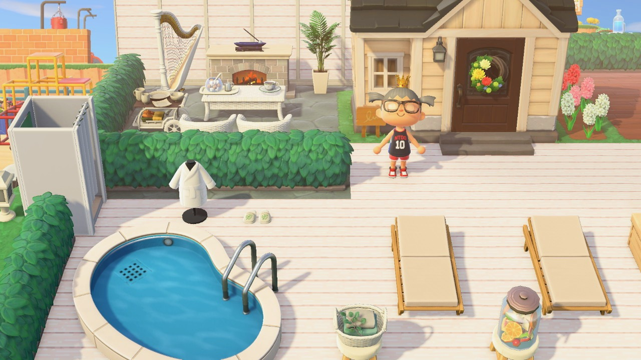 The design outside Olives House in Animal Crossing New Horizon