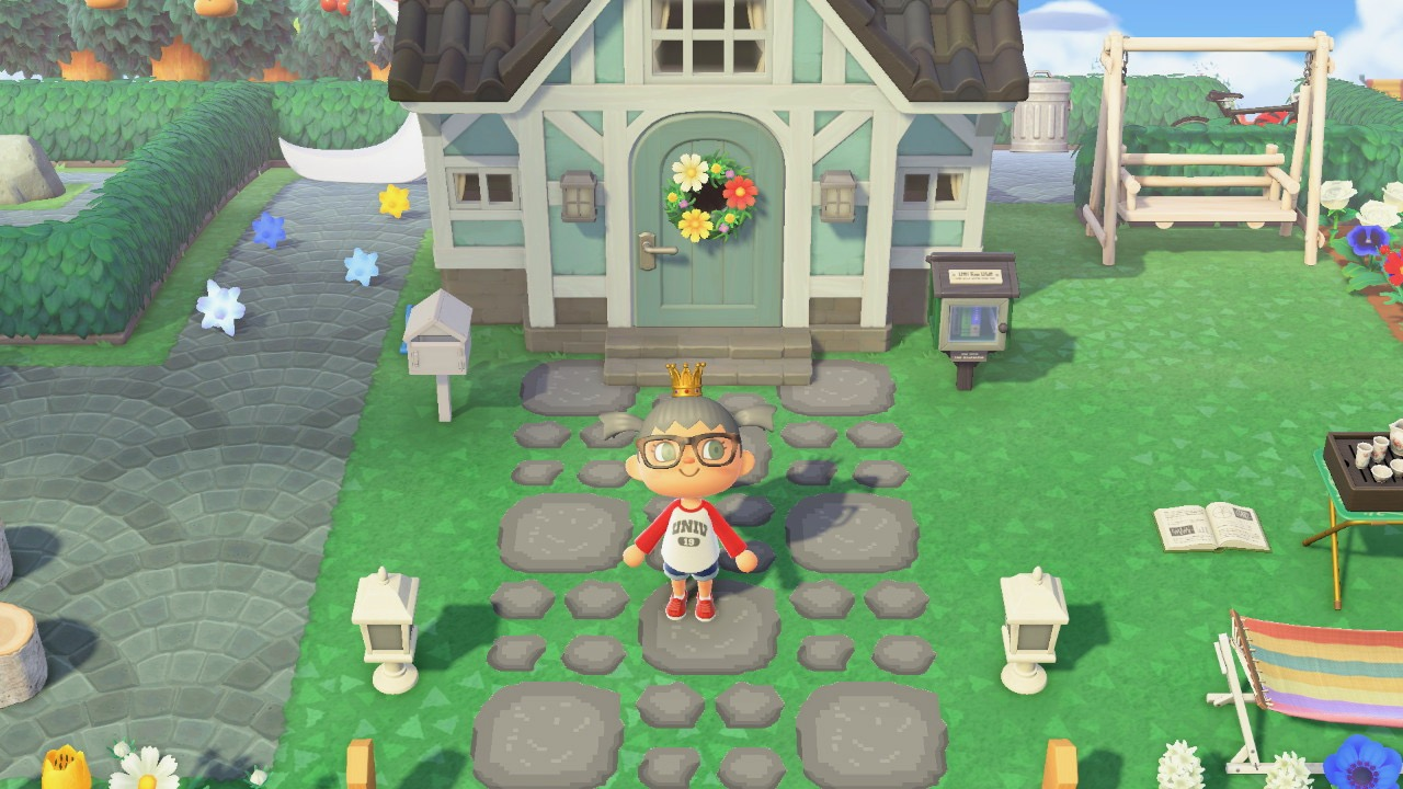 My garden area Animal Crossing New Horizon - Animal ...
