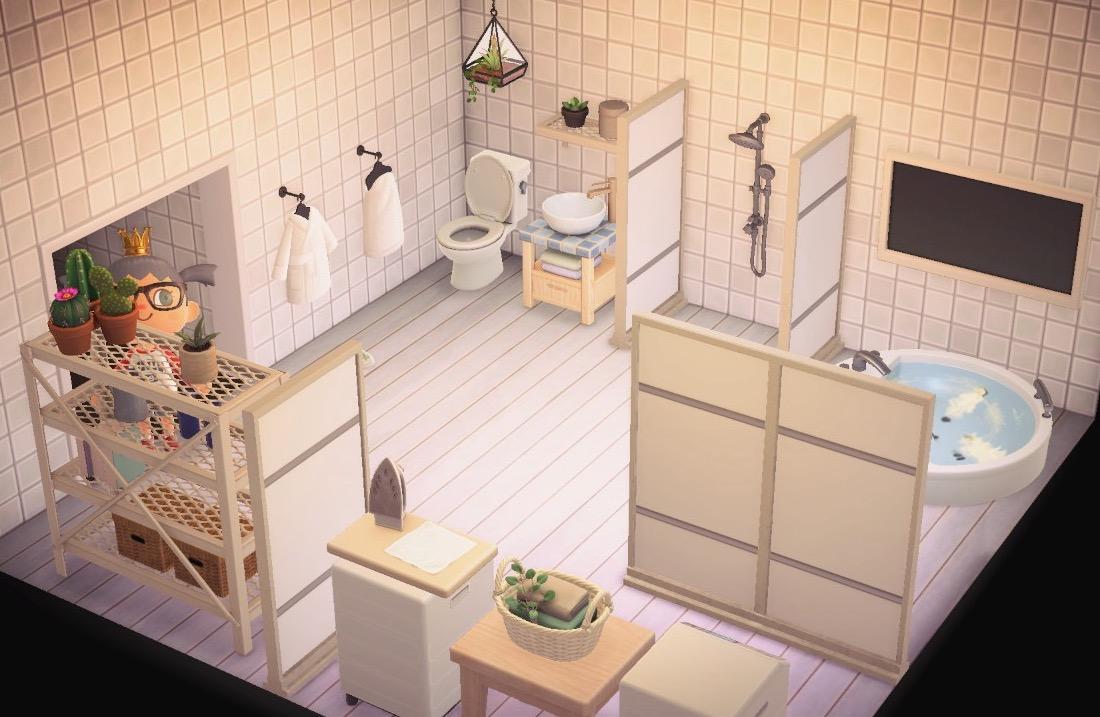 My White Bathroom Design Animal Crossing New Horizon Animal Crossing New Horizons Design Inspiration