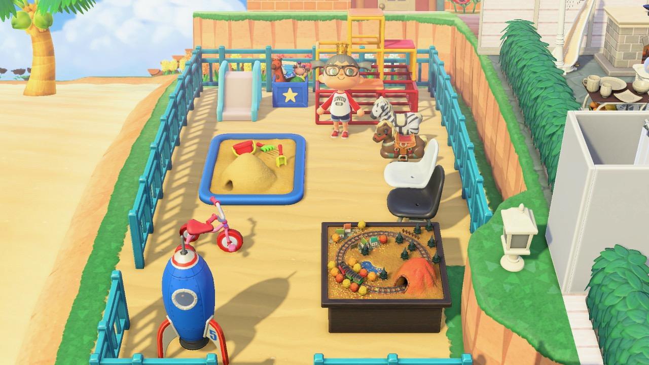Play area basket ball climbing wall Design Animal Crossing New Horizon1
